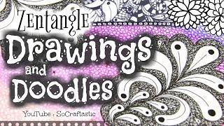 The Art Of ZENTANGLE #3 - My Drawings & Doodles! // SoCraftastic