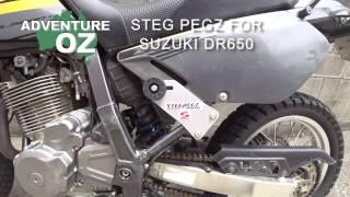 STEG PEGZ REVIEW FOR SUZUKI DR650: Adventure Oz