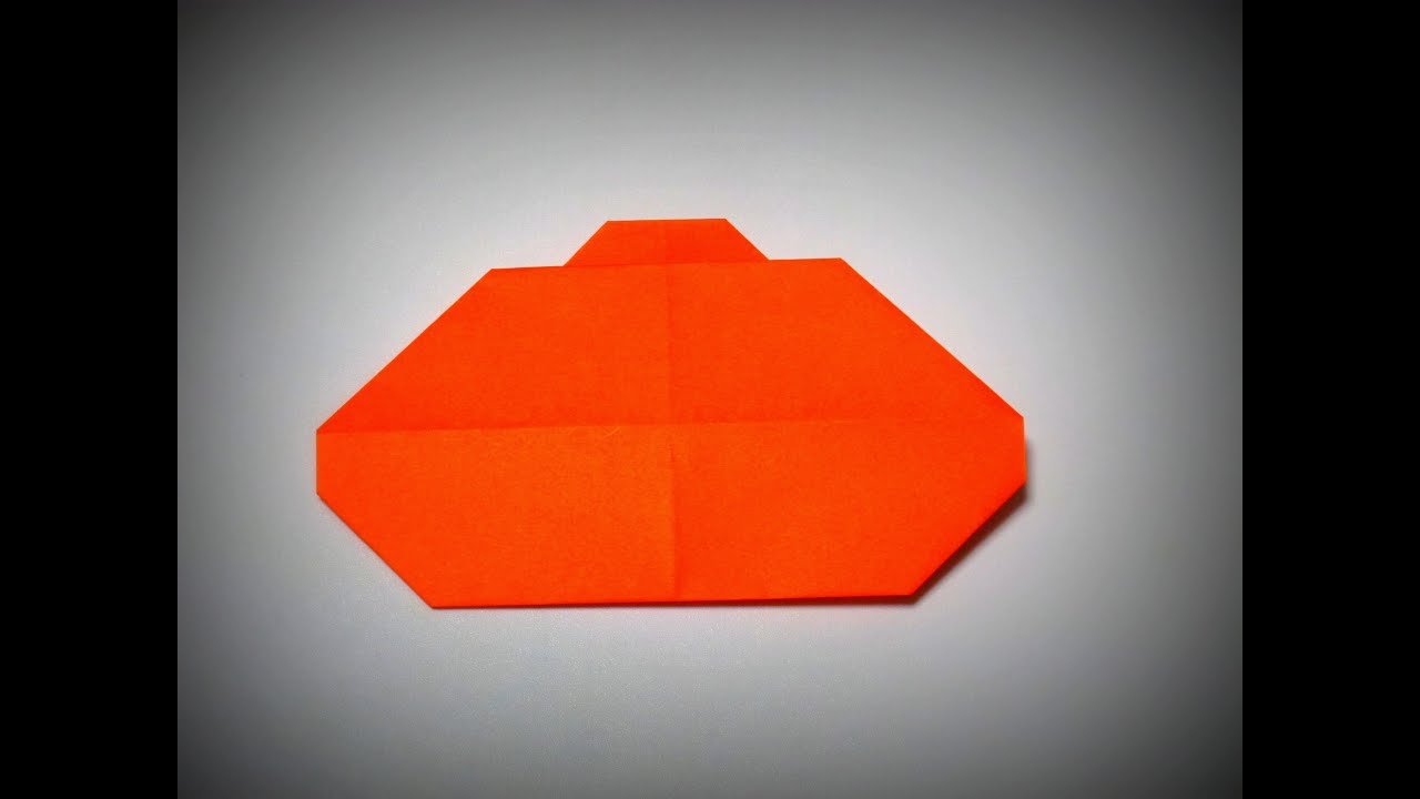 origami how to make an easy pumpkin for halloween youtube