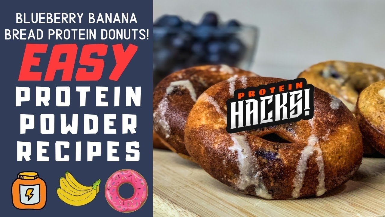 Easy Protein Powder Recipes || Blueberry Banana Bread Protein Donuts