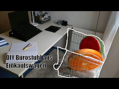 Shopping Cart Converted To Office Chair Diy Recycling Upcycling