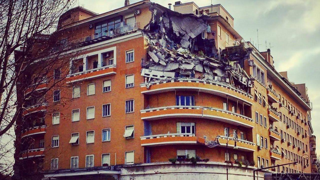 Crollano tre piani di un palazzo a roma il racconto dei for Palazzo a 4 piani