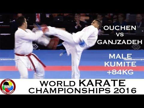 FINAL. Male Kumite +84kg. OUCHEN (MAR) vs GANJZADEH (IRI). 2016 World Karate Championships