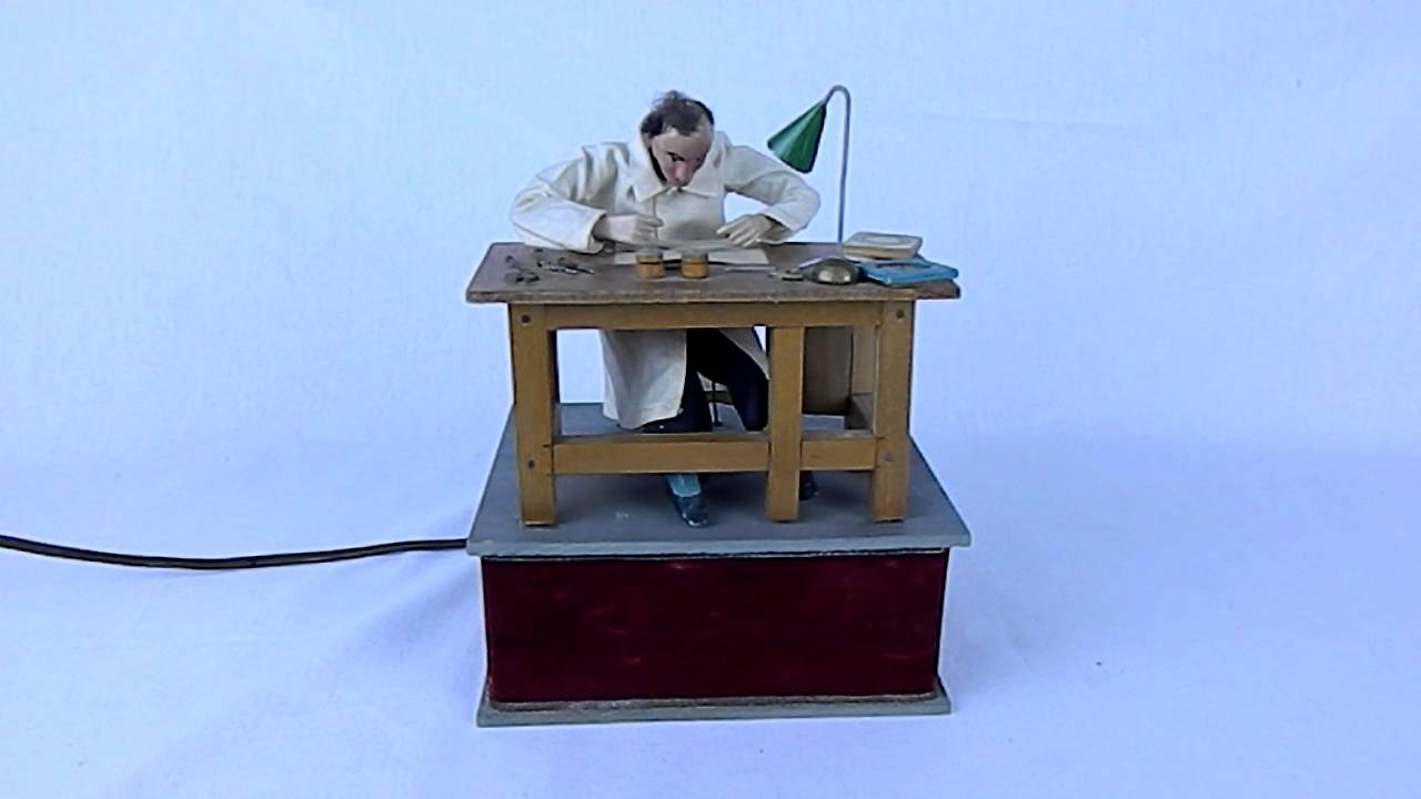 Vintage swiss automaton watchmaker at bench reymond youtube Watchmakers bench
