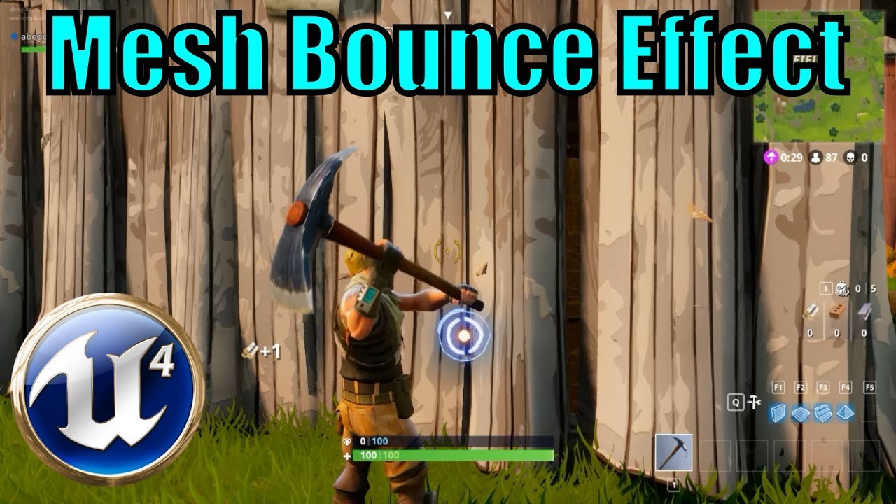 Fortnite Mesh Bounce Effect - Material - [UE4 Tutorial]