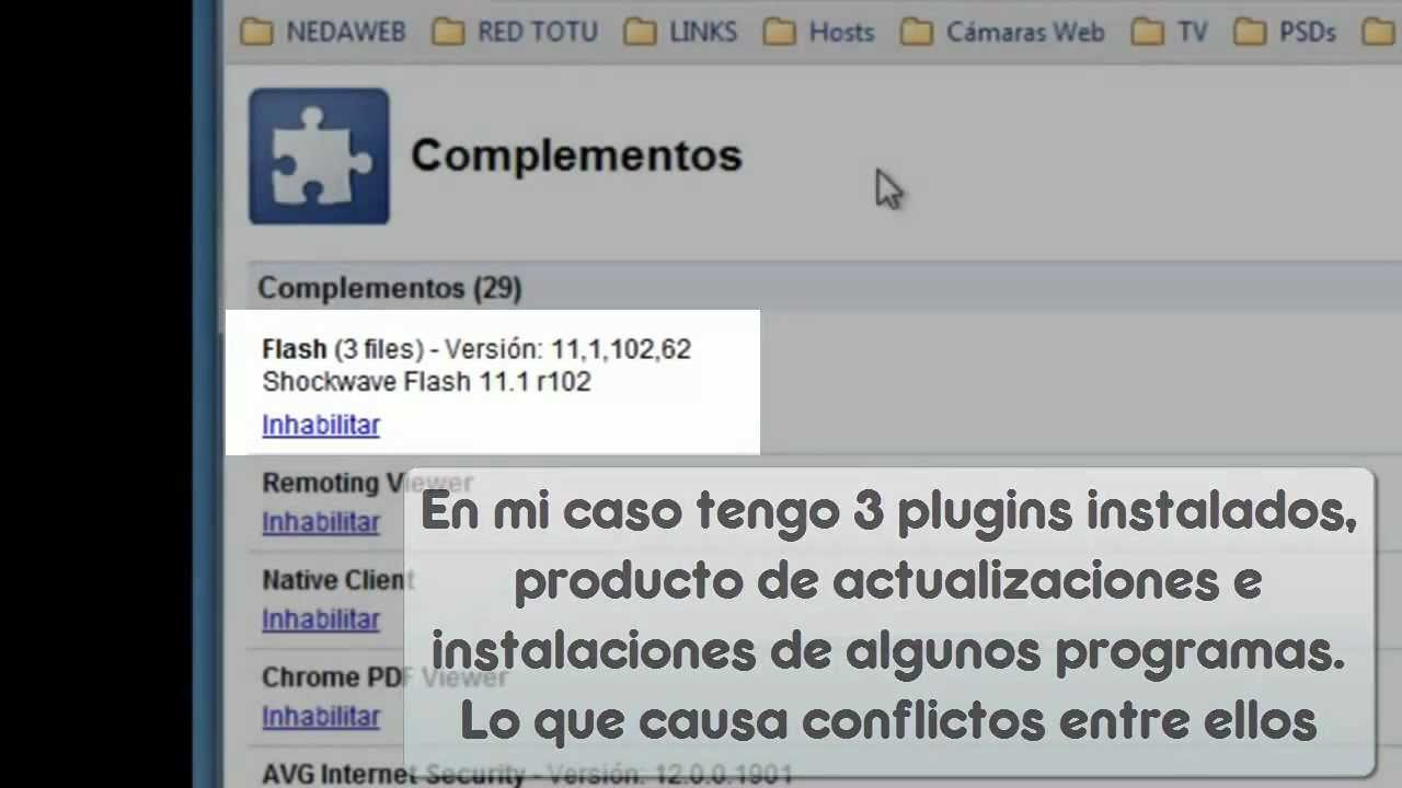 chrome //plugins complementos
