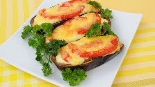 Фаршированные баклажаны с помидорами и сыром