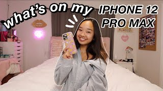 WHAT'S ON MY IPHONE 12 PRO MAX *updated* | Nicole Laeno