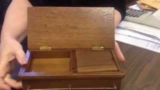 """""""the Greatest""""  Wooden Casket Shaped Cigarette Dispensing Music Box"""