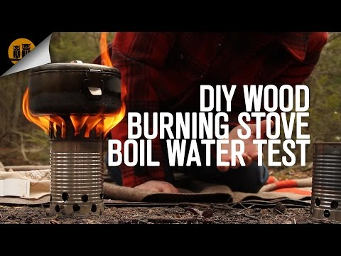 DIY Wood Burning Stove - Boil Water Test