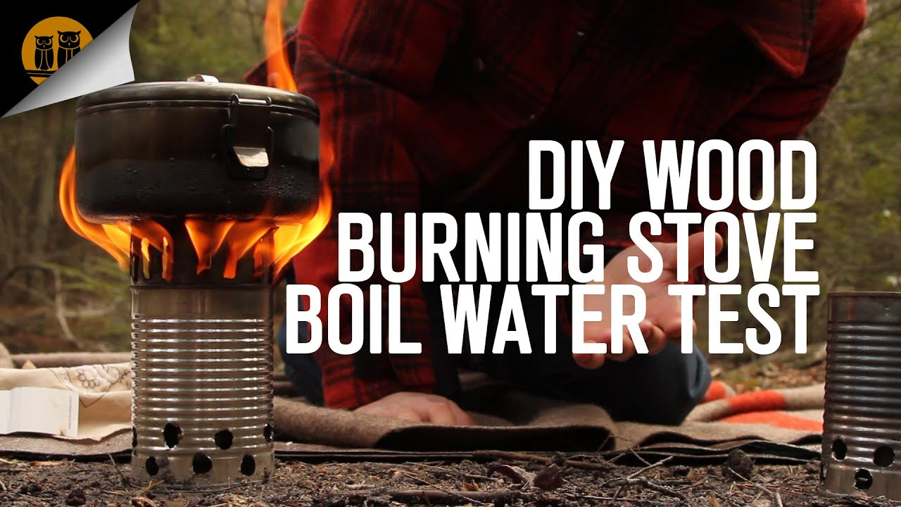Diy Wood Burning Stove Boil Water Test Youtube
