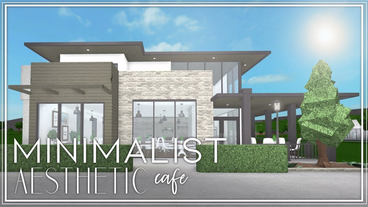Roblox Welcome To Bloxburg Contemporary Minimalist Cafe