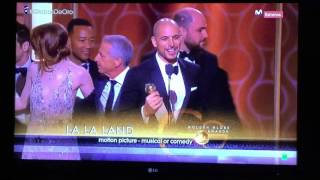 'La La Land' Wins The Globe For Best Picture Comedy Or Musical!