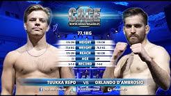 CAGE 47 Tuukka Repo vs Orlando D'ambrosio Full Fight MMA