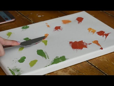 Oddly Satisfying 🤤😍 / ASMR / Painting Demonstration / Semi Abstract / Floral / Relaxing / Easy