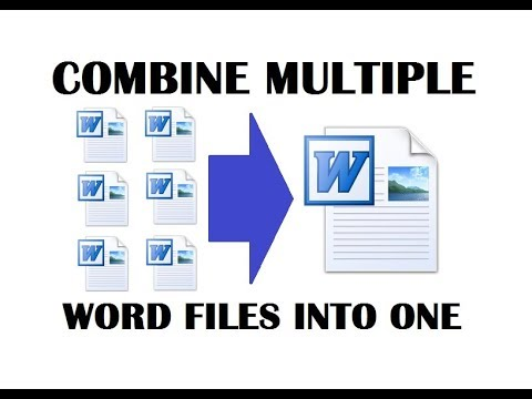 How To Combine Multiple Word Documents Into One Document | Merge Word Documents