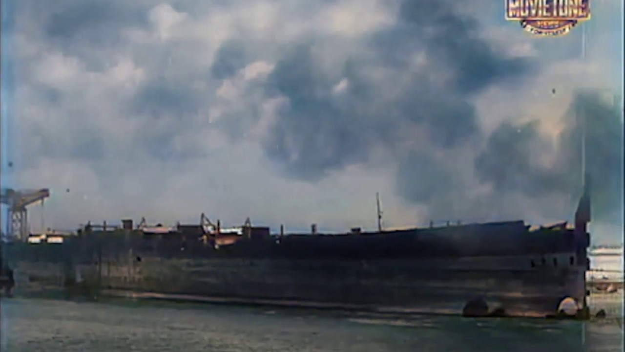 Download RMS Olympic's Last Voyage 1934 - 1937 in color [deoldified]