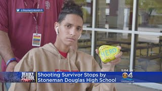 Finally Out Of Hospital, Parkland Shooting Victim Anthony Borges Visits Stoneman Douglas