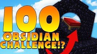 100 OBSIDIAN CHALLENGE - Minecraft BED WARS