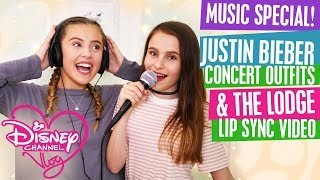 DISNEY CHANNEL VLOG | MUSIC SPECIAL - JUSTIN BIEBER CONCERT OUTFITS | THE LODGE LIP SYNC MUSIC VIDEO