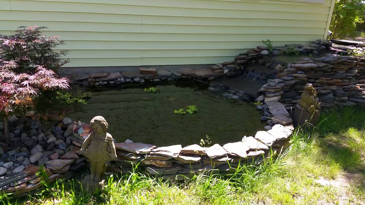 front yard koi pond with stream youtube