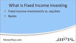 "What is ""fixed income investing""?"