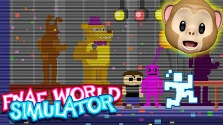 SCOTT CAWTHON + PINK GUY + CRYING CHILD JOINED!! | FNAF World Simulator
