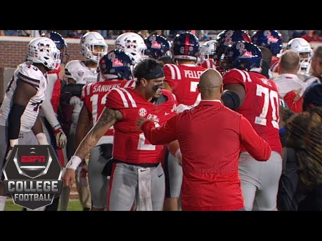Brawl erupts during 2018 Egg Bowl | College Football Highlights