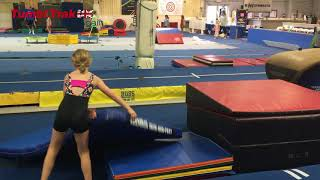 Getting over Fear Of Back Handspring Simple Bridge Drill