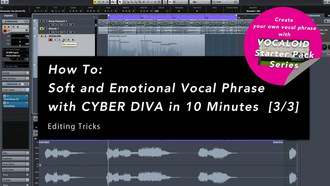 How To: Soft and Emotional Vocal Phrase with CYBER DIVA [3/3] - EDITING TRICKS - How To: Soft and Emotional Vocal Phrase with CYBER DIVA [3/3] - EDITING TRICKS