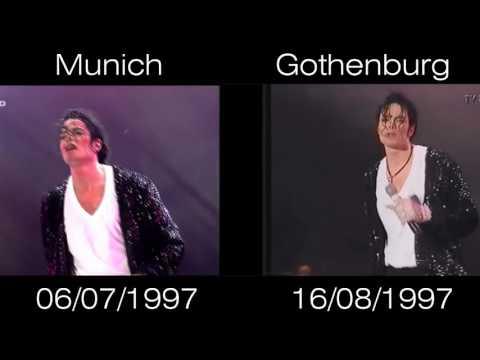 Michael Jackson - Billie Jean Live Munich vs Gothenburg 1997 - HIStory World Tour