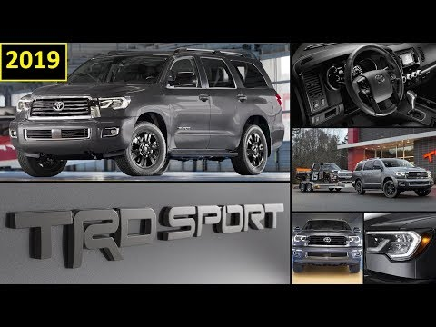 2019 Toyota Sequoia Trd Sport In Magnetic Grey Full Review Of Features And Walk Around