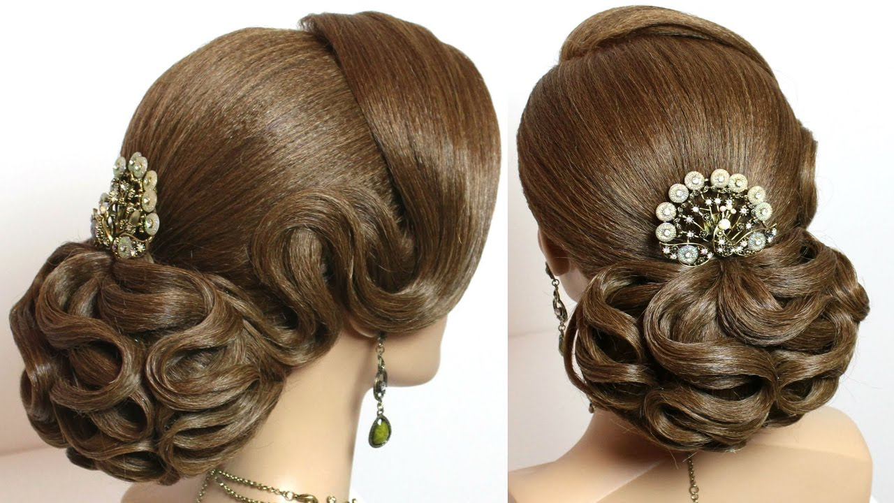 Beauty Tips Bridal And Wedding Hairstyles For Long Or: Hairstyle For Long Hair For Wedding. Bridal Updo Tutorial