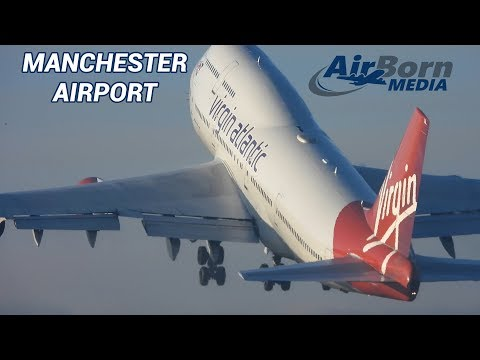 Manchester Airport Foggy Morning Landings Takeoffs Plane Spotting 24th December 2018