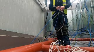 Working above a giant fridge pt3 - Commercial lighting, Trace heating - Commercial Electrician