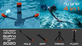 Nu Grip 4 in 1 - The world first floating grip & tripod - The Top GoPro & DJI Accessory of 2020
