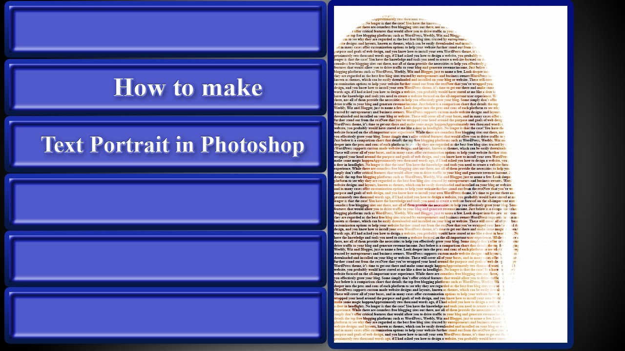 how to make text in photoshop