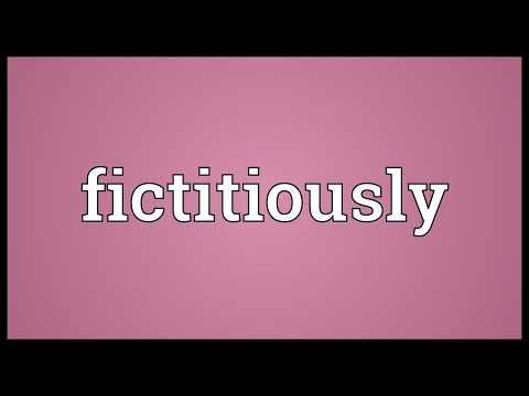 Header of fictitiously