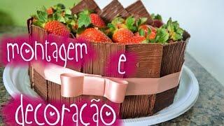O segredo para o bolo ficar reto #decoração e montagem#