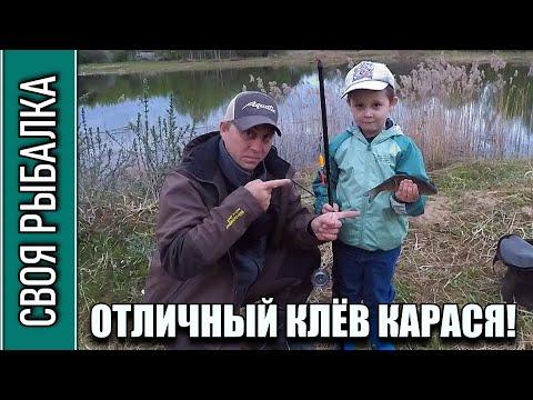 Рыбалка на карася в мае с сыном на пруду. Отличный клёв!!!