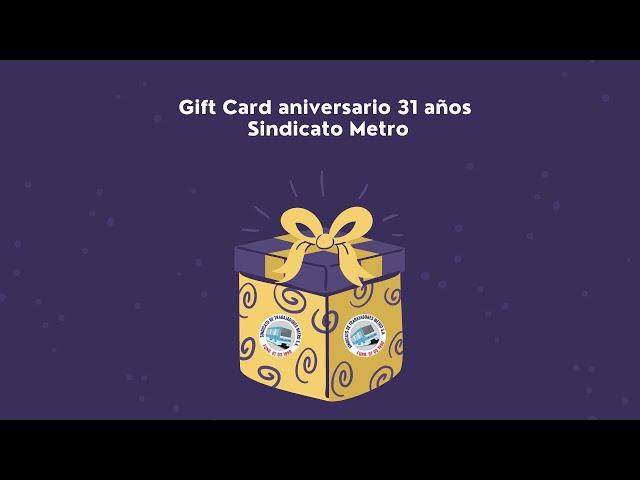Sindicato repartió gift card de aniversario entre sus socios(as)