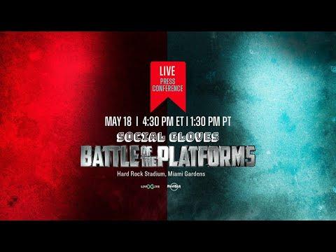 Deji VS Vinnie Hacker Press Conference - Social Gloves #BattleofthePlatforms