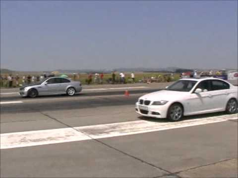 bmw 335i e90 vs bmw e46 m3 1 4 mile youtube. Black Bedroom Furniture Sets. Home Design Ideas