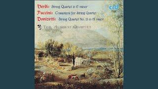 Verdi, String Quartet in E minor: Allegro