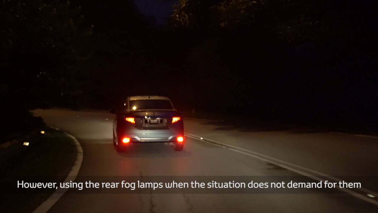 proper usage of rear fog lamps [ 1280 x 720 Pixel ]