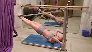 Practice of the Pilates Springs- Dragon Flag