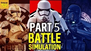 FIRST ORDER VS CLONE TROOPERS VS STORMTROOPERS (BATTLEFIELD SIMULATION)