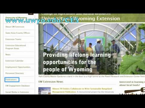 Accessing the personal directory and publications on the University of Wyoming Extension homepage