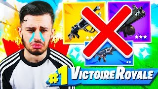 I'm TRYING to DO TOP 1 WITHOUT ARMES ON FORTNITE! VOICI WHAT IT'S PAST... 😱