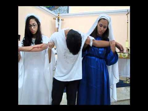 Encenacao da Pascoa 2012 - Grupo de Jovens Nossa Senhora Medianeira